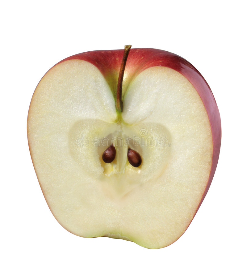 Apple (moitié) images stock