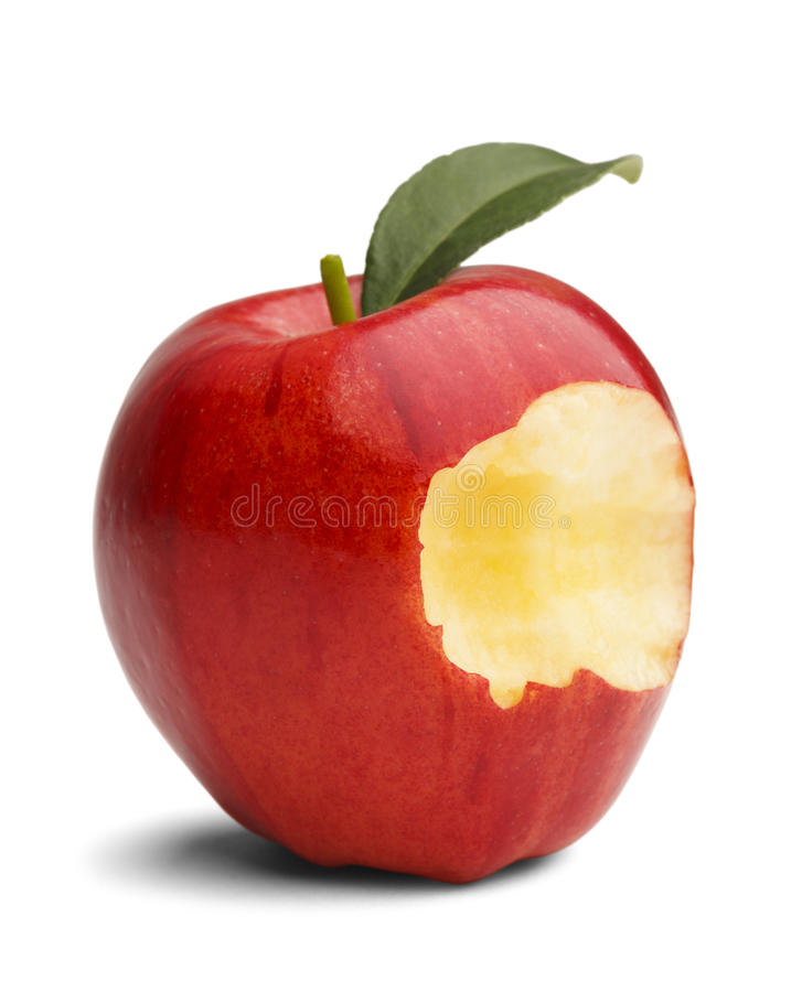 Apple morde immagini stock