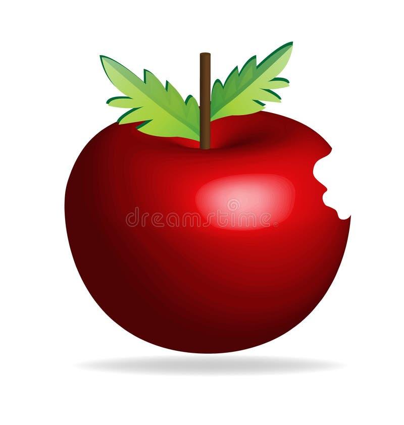 Apple mordido, vetor do ícone ilustração do vetor