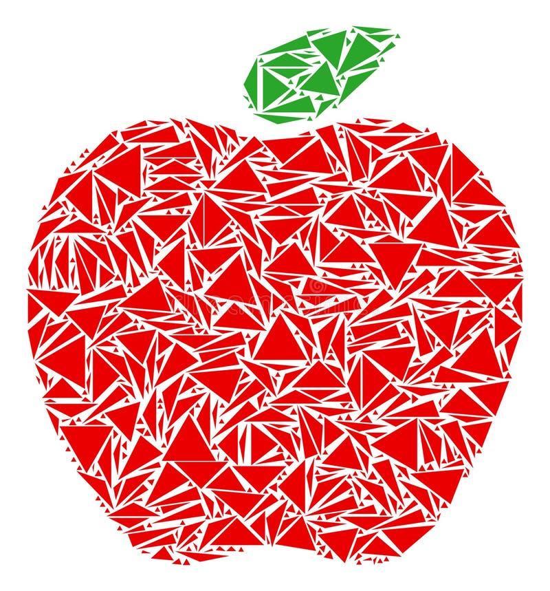 Apple mosaik av trianglar stock illustrationer