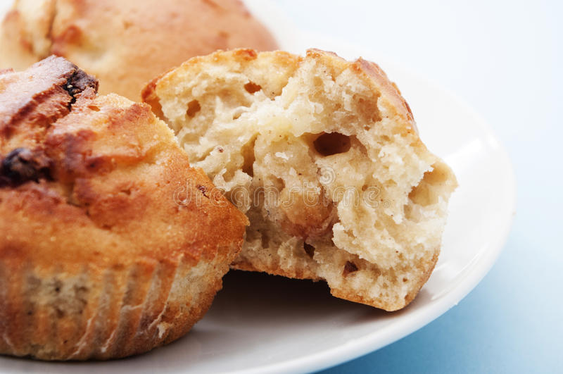 Apple-muffin stock afbeelding