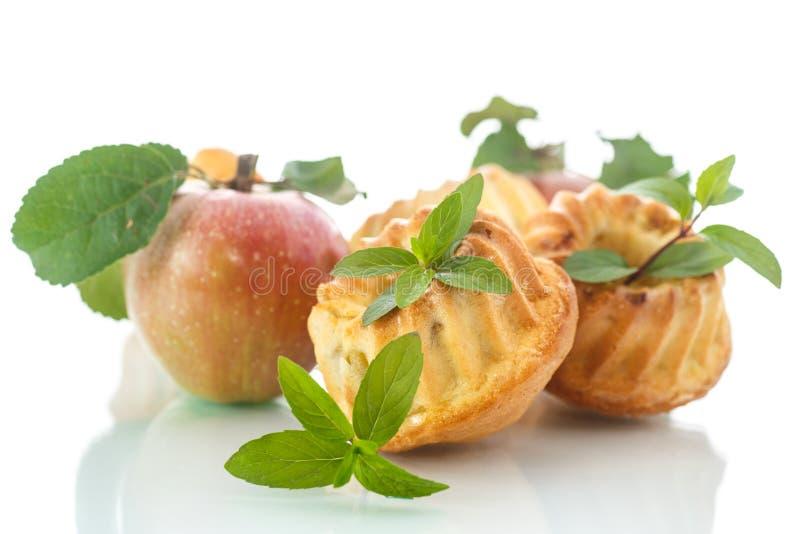 Apple-muffins royalty-vrije stock afbeeldingen