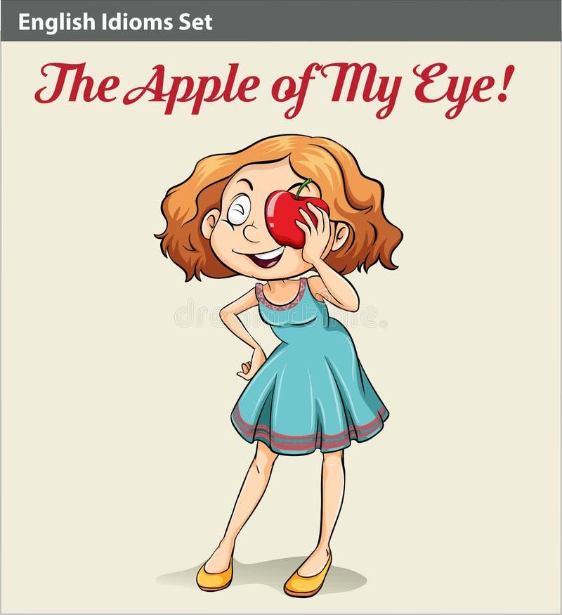 An apple of my eye poster vector illustration