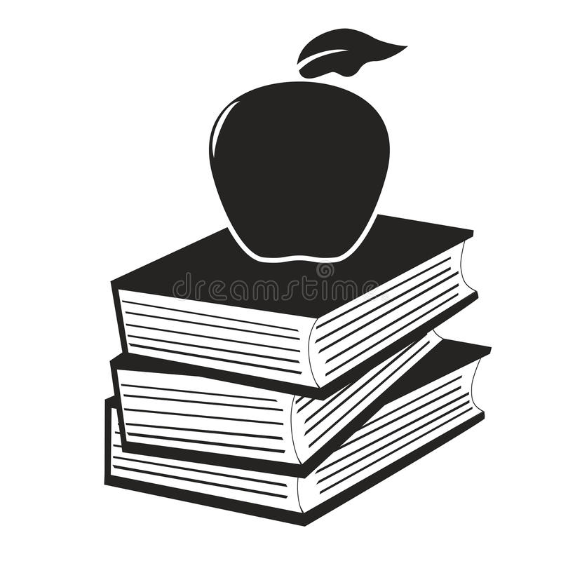 Apple na książkach ilustracji
