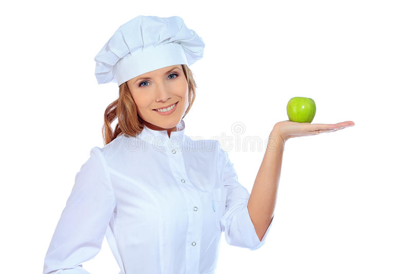 Apple na palma imagens de stock