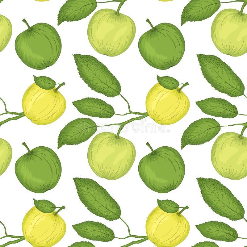 Apple-nahtloses Muster lizenzfreie abbildung