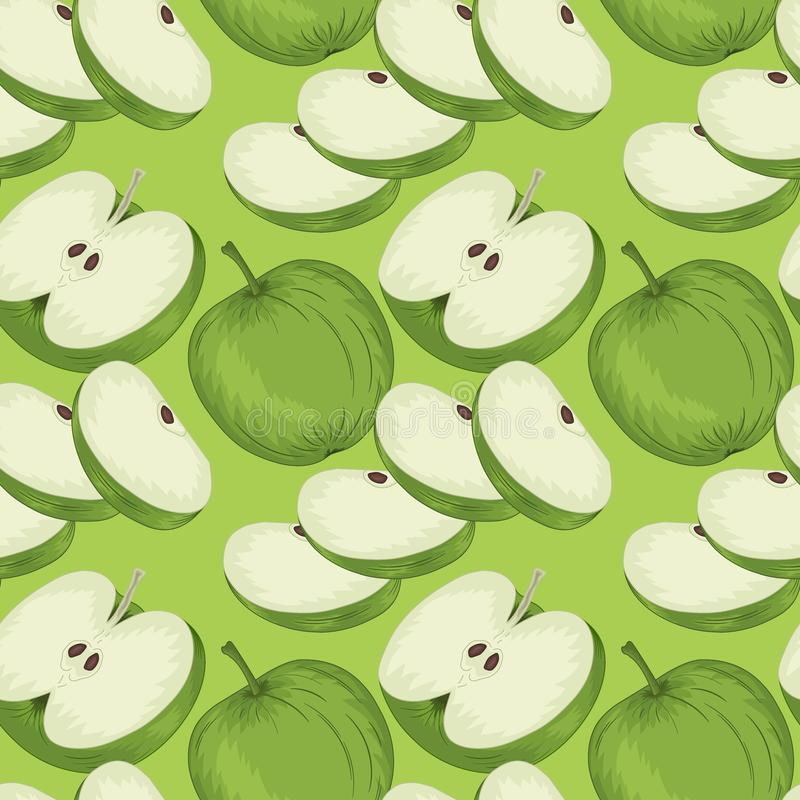 Apple-nahtloses Muster stock abbildung
