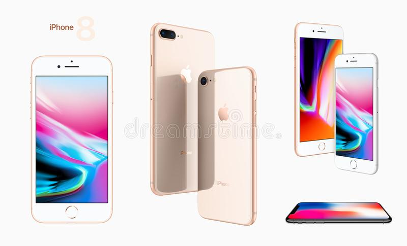 Download IPhone 8 Apple 2017 editorial photo. Image of rounded - 99952971