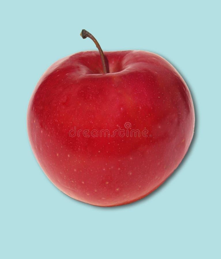 Apple no azul foto de stock