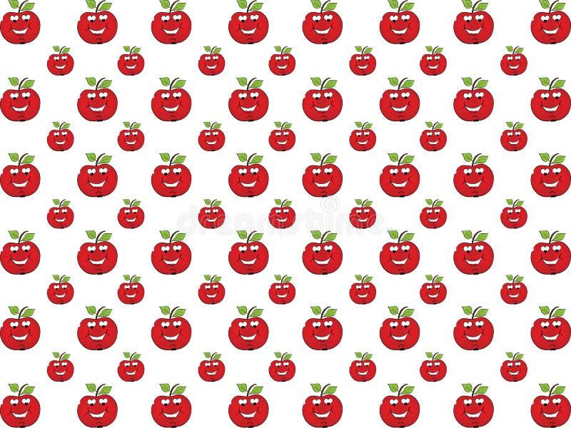Apple no fundo do amor ilustração stock