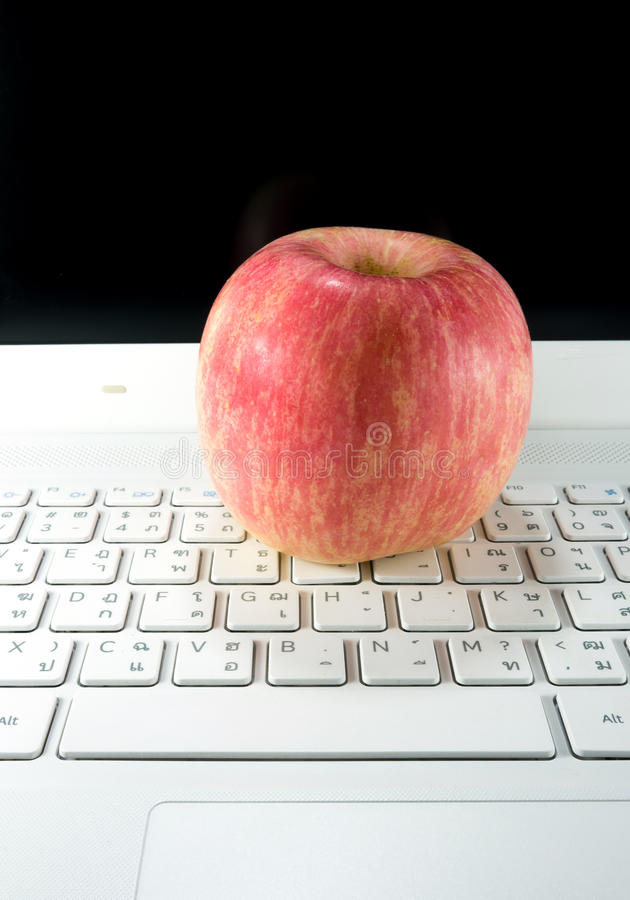 Apple notebook stock images