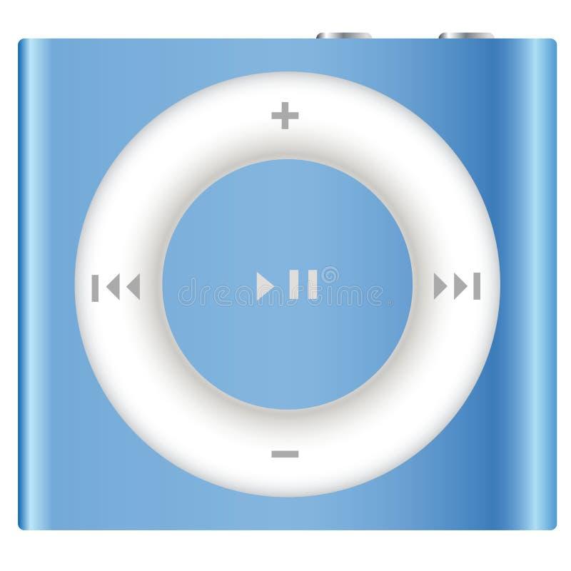 Apple novo iPod Shuffle ilustração stock