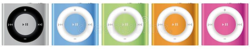 Apple novo iPod Shuffle multicolor ilustração stock
