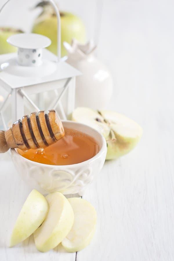 Apple och honungbakgrund arkivbild