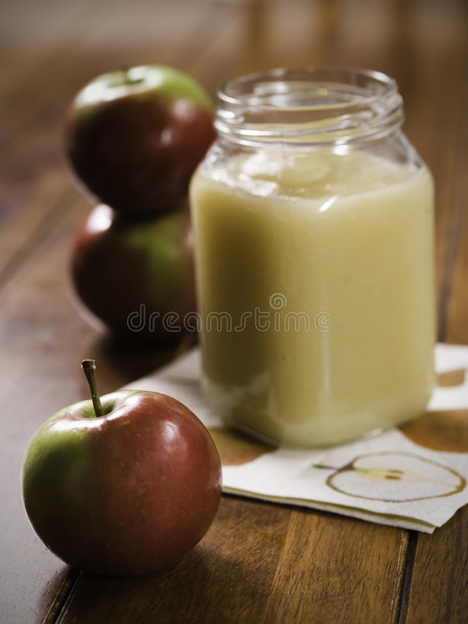 Free Apple On Table With Stewed Stock Image - 11040481