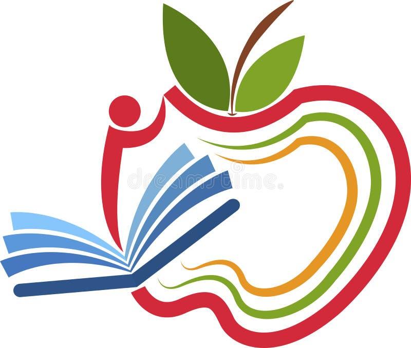 Apple-onderwijsembleem royalty-vrije illustratie