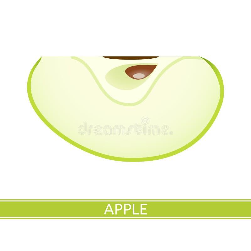 Apple op wit wordt geïsoleerd dat stock foto
