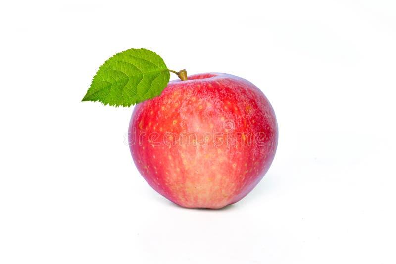 Apple op witte achtergrond wordt geïsoleerd die royalty-vrije stock foto's