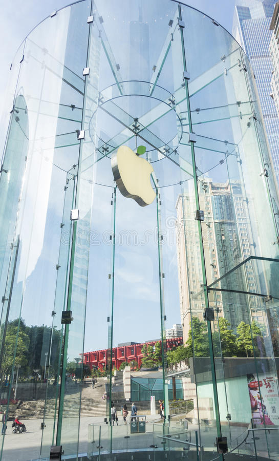 Apple-opslag in het chongqing stock fotografie