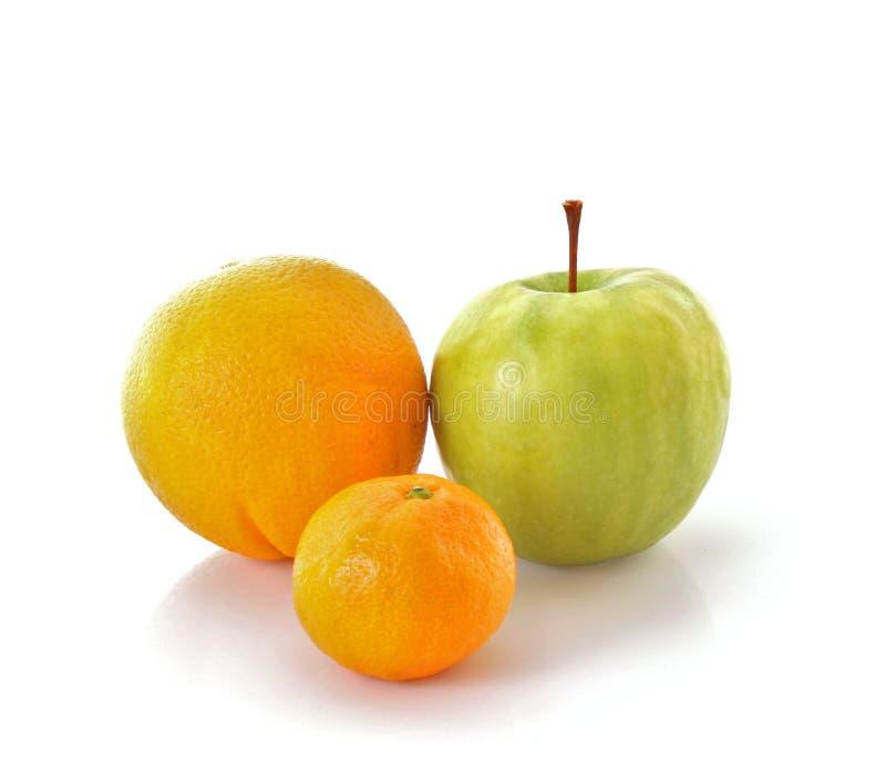 Apple and orange royalty free stock photo