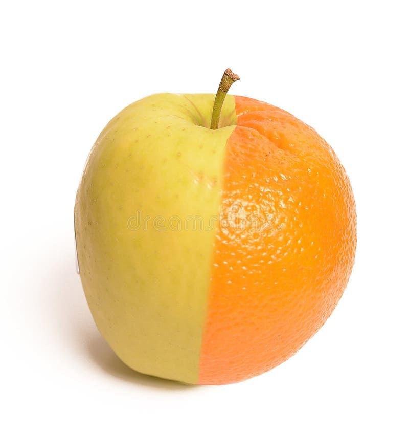 Apple-Orange stockfoto