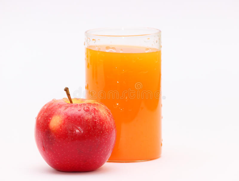 Apple and orange fruit juice royalty free stock photo
