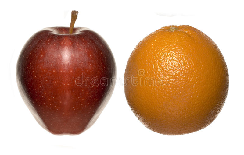 Apple orange stock photography