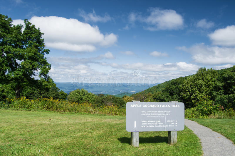 Apple Orchard Overlook from the Blue Ridge Parkway royalty free stock photos