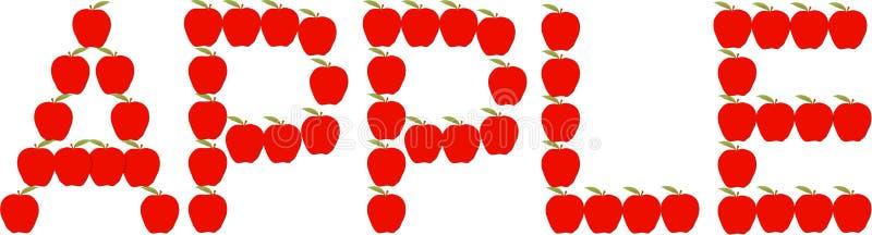 Apple ord vektor illustrationer