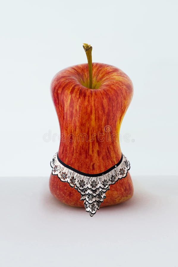 Download Apple With Panties After Dieting Stock Image - Image of sexually, humorous: 9931119