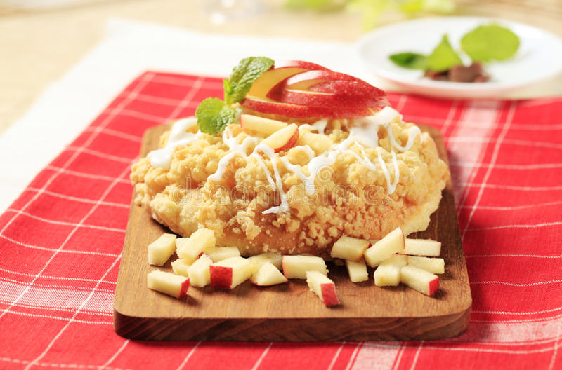 Apple pastry stock image
