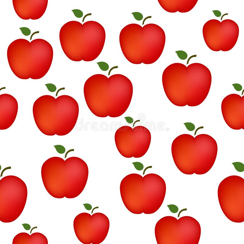 Apple pattern. Red apples seamless patterns with transparent background vector illustration