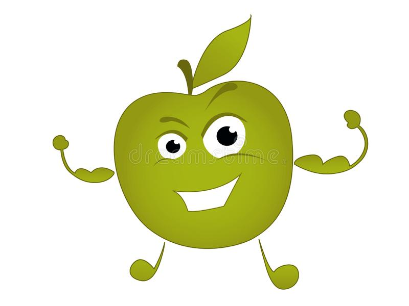 Apple pattern.Vector illustration royalty free stock photography