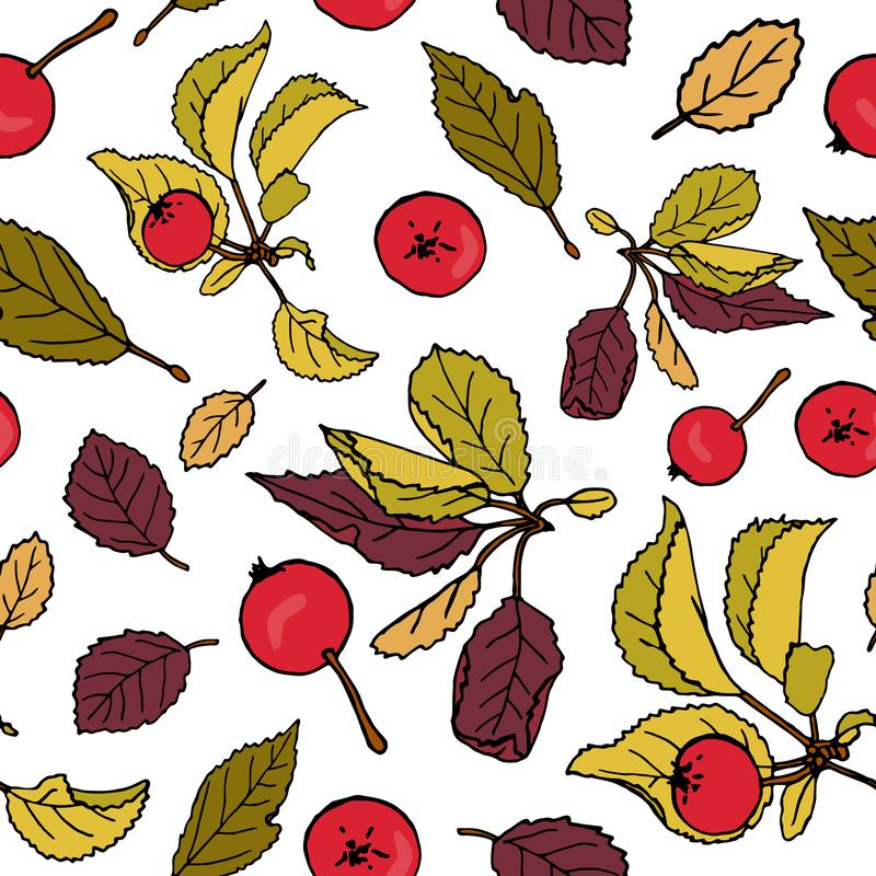 Apple repeating pattern stock illustration