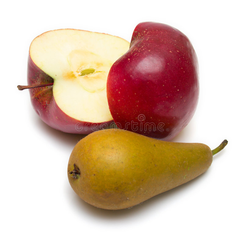 Download Apple and pear stock image. Image of apple, isolated, yellow - 7469797