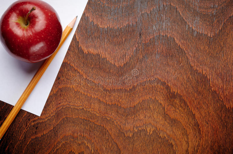 Download Apple and a pencil stock photo. Image of paper, primary - 25947146
