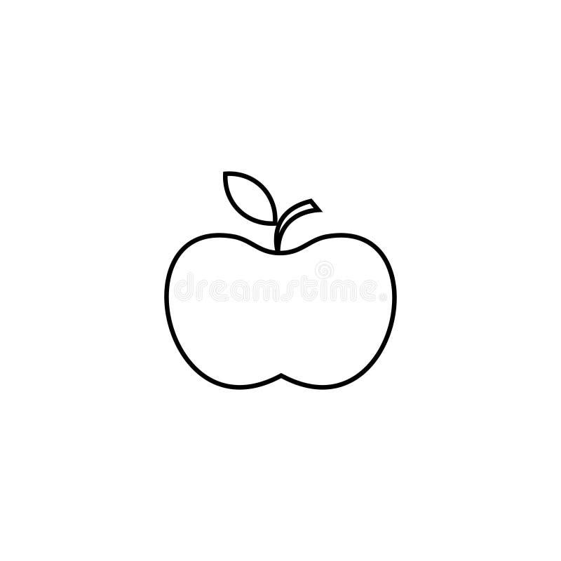 Apple-pictogram Lijnpictogram voor infographic, website of app Overzichtssymbool om een website en mobiele toepassingen te ontwer vector illustratie