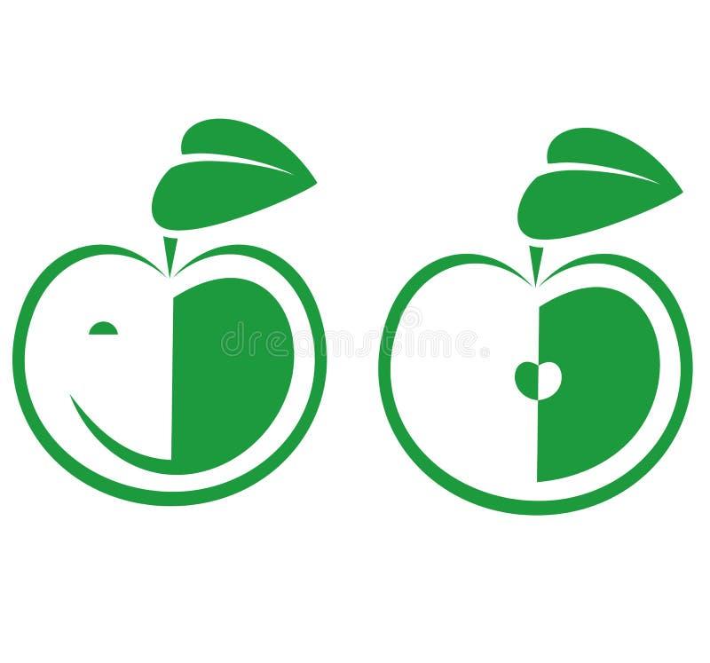 Apple-Pictogrammen royalty-vrije illustratie