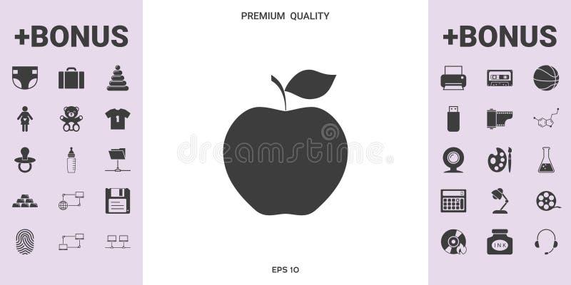 Apple-Pictogramsymbool royalty-vrije illustratie
