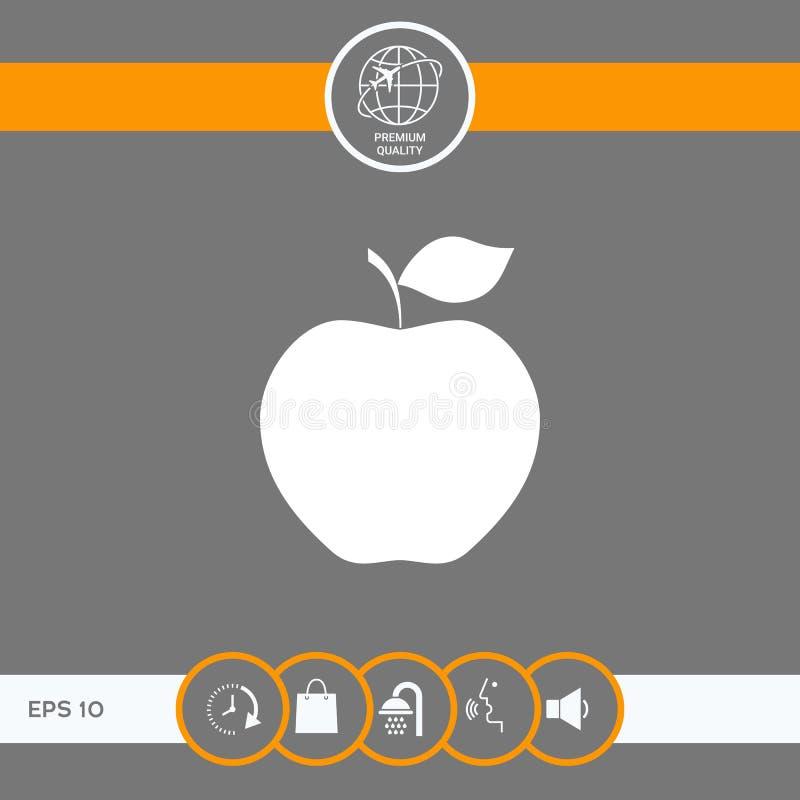 Apple-Pictogramsymbool vector illustratie