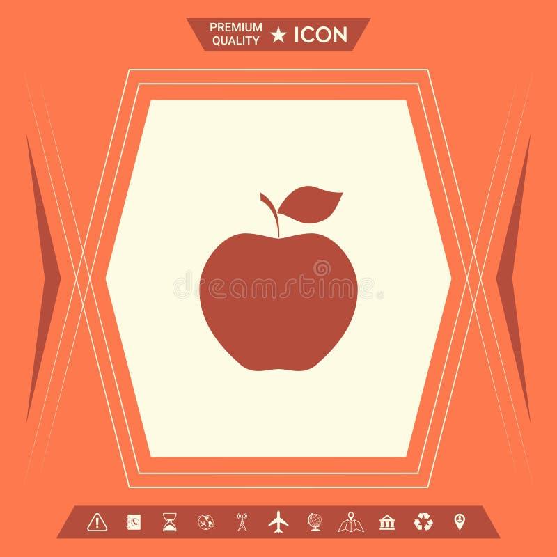 Apple-Pictogramsymbool stock illustratie