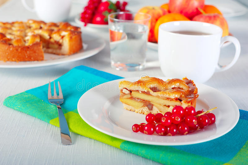 Download Apple pie stock image. Image of brunch, serviette, napkin - 18251215
