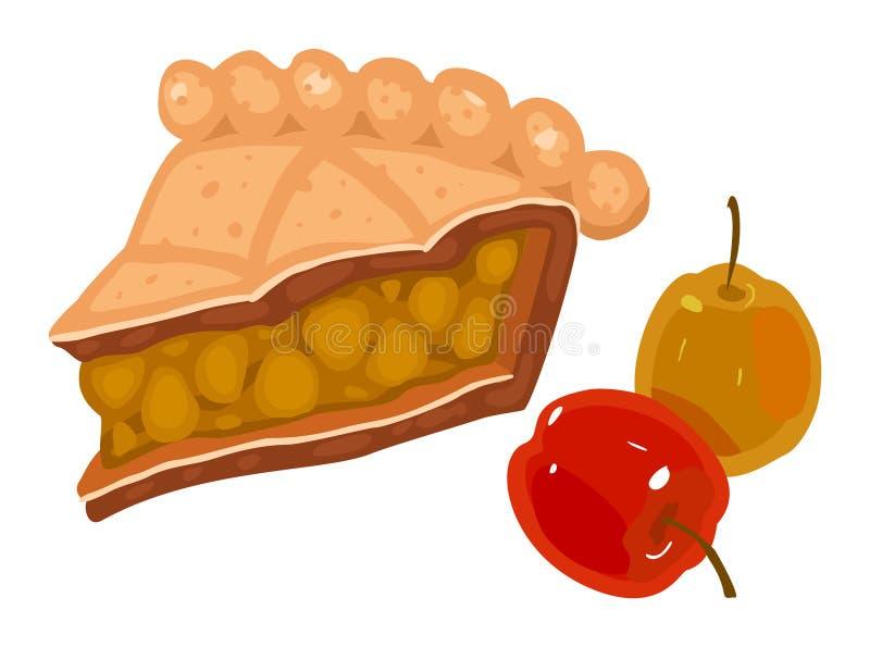 Apple pie. Slice of apple pie. Vector illustration vector illustration