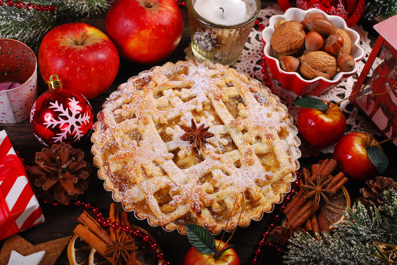 Apple pie for christmas stock photo image 62206331 for Apple pie decoration