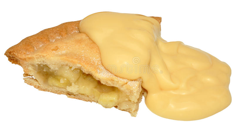 Apple Pie And Custard stock photography