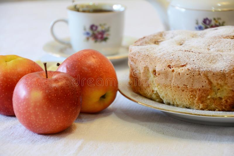Apple pie. Dessert stock photo