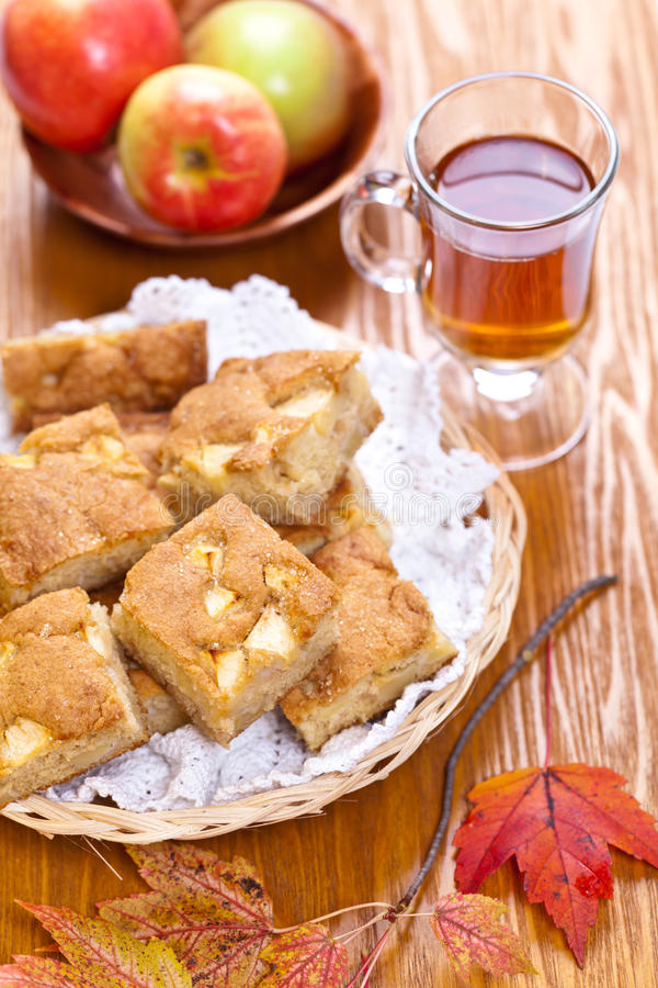 Apple Pie. Homemade Organic Apple Pie Dessert Ready to Eat. Selective focus royalty free stock photo