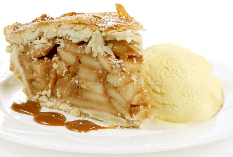 Download Apple pie and icecream stock image. Image of sauce, baked - 19136693