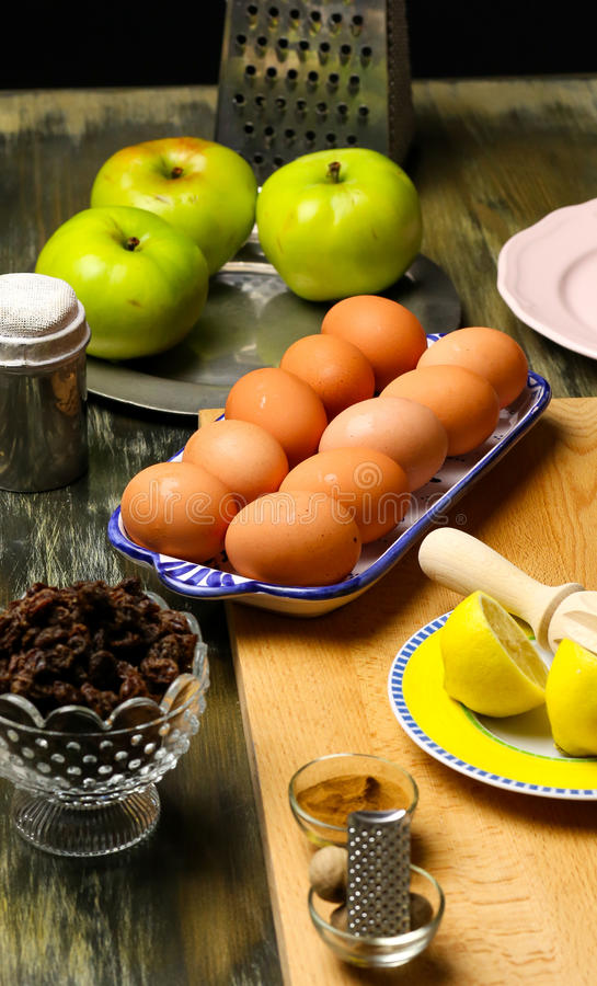 Apple Pie Ingredients royalty free stock images