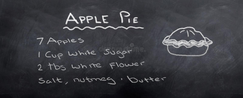 Apple Pie Recipe royalty free illustration